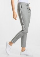 CECIL Melange Joggpants Tracey in Cool Silver