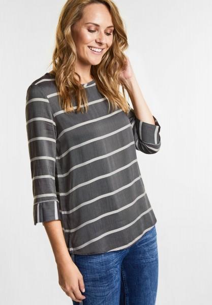 CECIL - Melange Streifen Bluse in Black