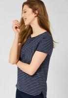 CECIL - T-Shirt mit Streifen in Deep BlueCECIL - T-Shirt mit Streifen in Deep Blue