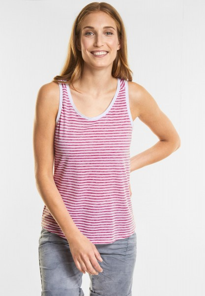 CECIL - Inside-Out Streifen Top in Galaxy Pink