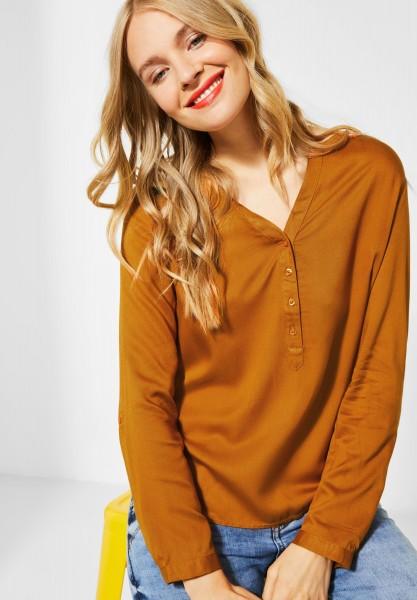 Street One - Unifarbene Bluse in Foxy Caramel