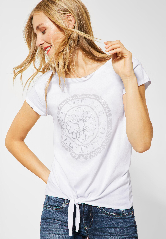 Street One SportlichesT Shirt mit Frontprint in White
