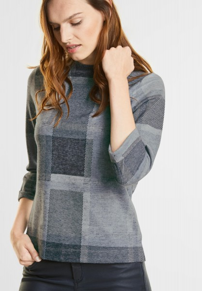 Street One - Cosy Turtleneck Shirt in Night Blue