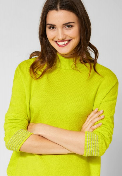 Street One - Pullover mit rundem Saum in Lime