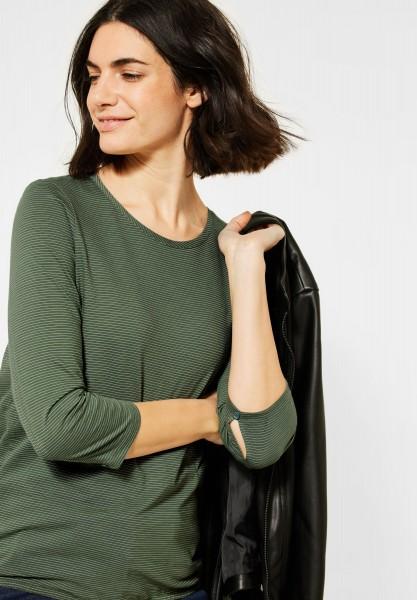 CECIL - Shirt mit 3/4-Ärmeln in Soft Khaki