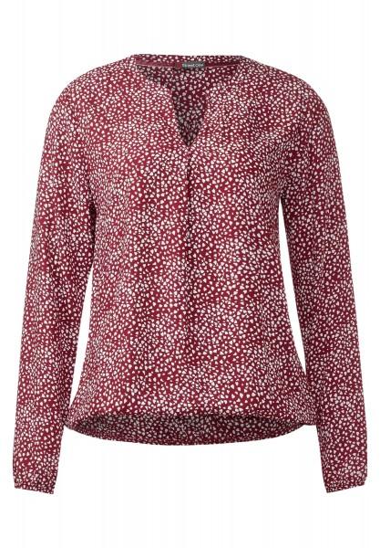 Street One - Bluse mit Gummizug Idwina Vintage Red