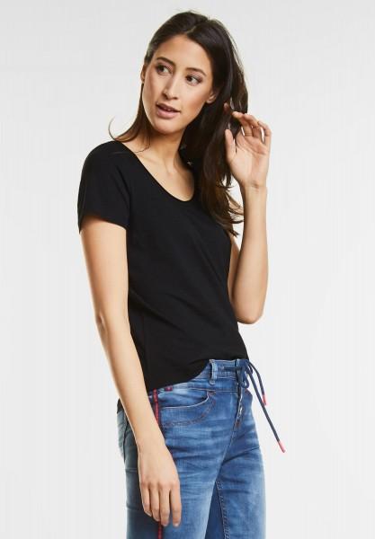 Street One Basic Style Shirt Gerda in Black