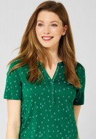 CECIL - Shirt mit Minimal Muster in Lucky Clover Green