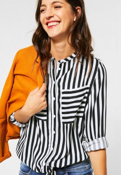 Street One - Bluse mit Streifenmuster in Neo Grey