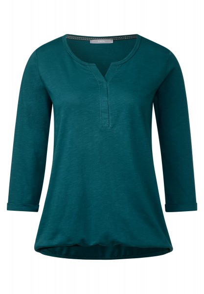 CECIL - 3/4-Arm Shirt Amelie Deep Teal Green