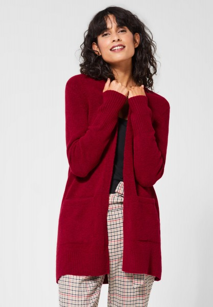 Street One - Lange Strickjacke Canice in Love Red