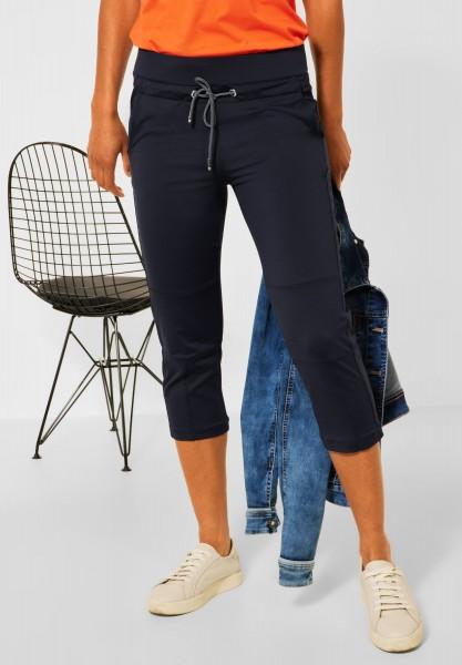 Street One - Loose Fit Hose in Länge 22 in Dark Foggy Blue