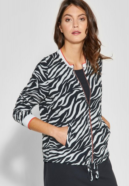 Street One - Blouson mit Zebraprint in Neo Grey