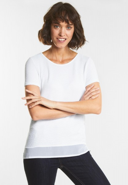 Street One - Lässig strukturiertes Shirt in White