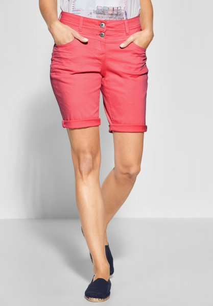 CECIL - Loose Fit Shorts New York in Neo Coralline Red