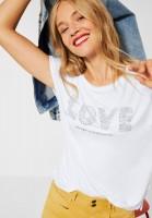 Street One - T-Shirt mit Aufschrift in White