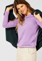 CECIL - Shirt mit Streifen Muster in Frosty Violet