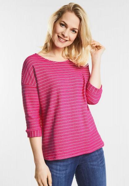 CECIL Sweatshirt mit Streifen in Galaxy Pink