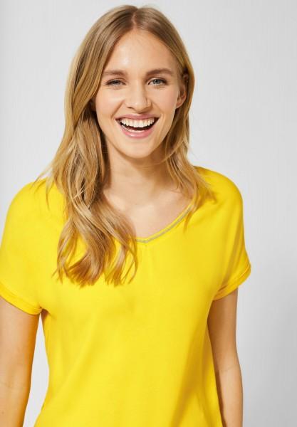 Street One - Glitzer Bluse Landa in Shiny Yellow