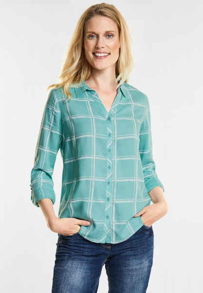 CECIL - Karo-Style Bluse in Gingermint Green