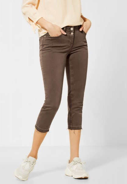 CECIL - Colour-Denim im Slim Fit in Light Cappucino Brown
