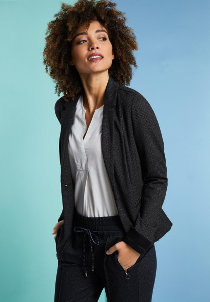 Street One - Blazer mit Punkteprint in Anthracite Melange