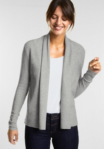 Street One Weiche Strickjacke Layka in Moon Grey Melange