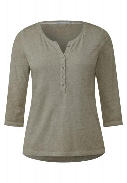 CECIL - Washed Serafino-Shirt Holly Deep Olive