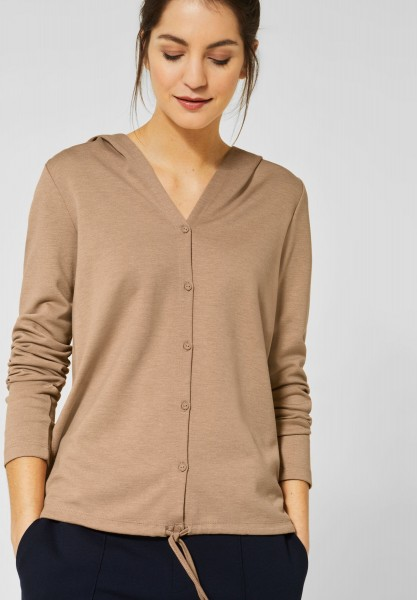 Street One - 2in1 Strickjacke Lienne in Easy Camel Melange