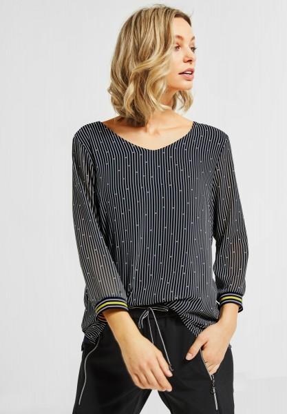 Street One - Allover Print Shirt Rafaela in Deep Blue
