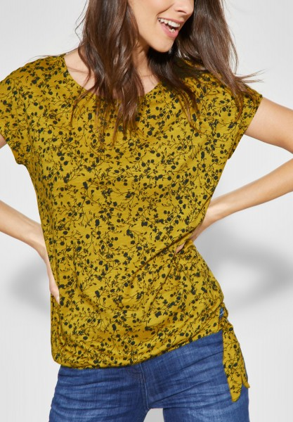 CECIL - Shirt mit Blumenprint in Ceylon Yellow