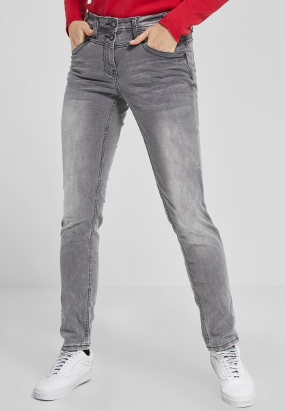 CECIL - Crash-Effekt Denim Scarlett in Mid Grey Used Wash