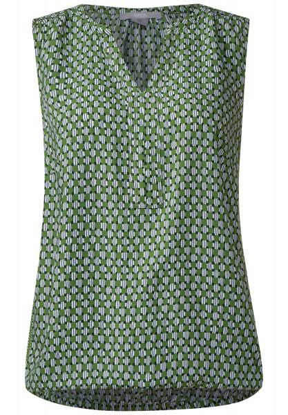 CECIL - Top im Minimalprint in Matcha Tea Green