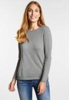 CECIL - Softer Basic Pullover in Mineral Grey Melange