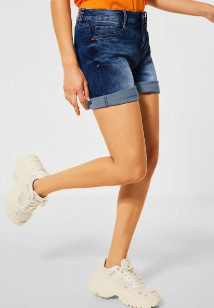 Street One - Kurze Loose Fit Shorts in Amazing Blue Heavy Wash