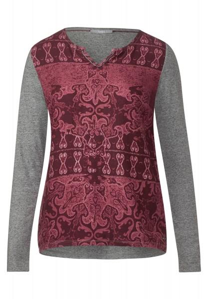 CECIL - Shirt mit Ornamentprint Maroon Red
