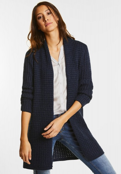 Street One - Weicher Struktur Cardigan in Evening Blue