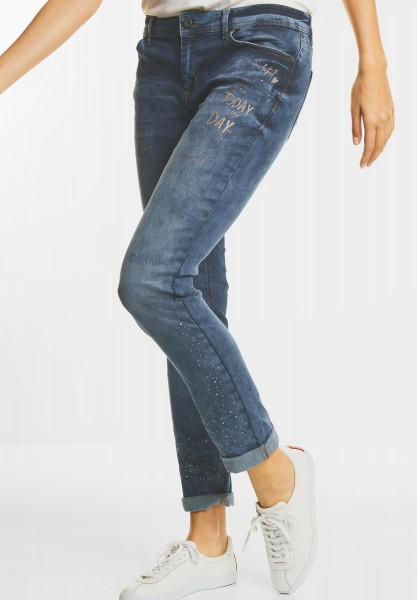 Street One - Wording Print Denim Jane