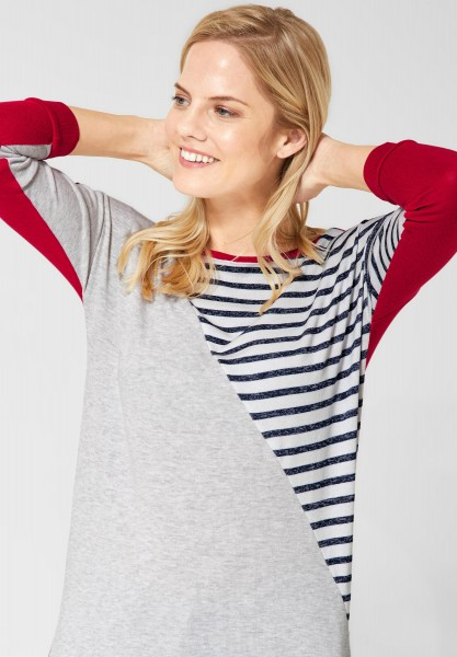 CECIL - Shirt mit Patchwork-Muster in Tomato Red