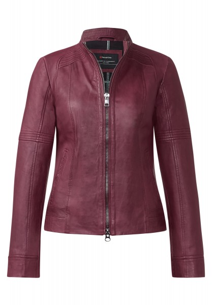 Street One - Lederjacke Felice Night Plum