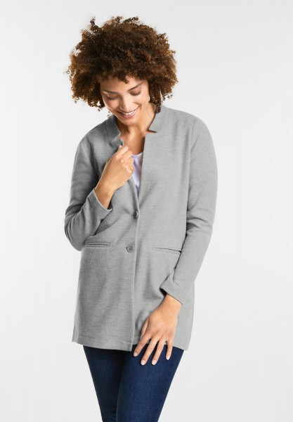 Street One Lange Blazerjacke in Moon Grey Melange