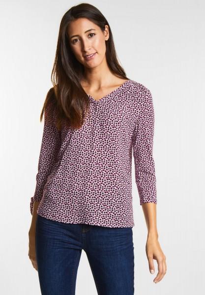 Street One Verspieltes Print Shirt in Mystique Berry