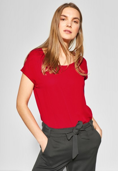 Street One - 2in1 Chiffon Shirt in Vivid Red