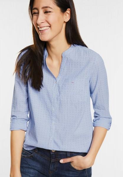 Street One - Streifen Hemdbluse in Sailing Blue