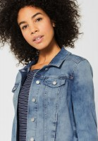 Street One - Blaue Denimjacke Roxana in Blue Random Bleach