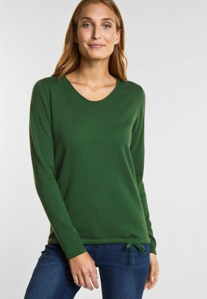 CECIL Pullover mit V Ausschnitt in Fresh Meadow Green