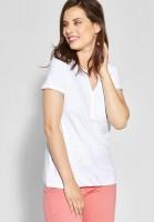 CECIL - Shirt mit Spitzenbesatz in White
