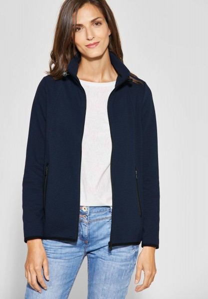 CECIL - Weiche Sweatshirt Jacke in Deep Blue