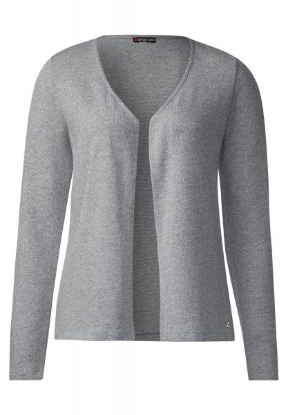 Street One - Offene Basic Jacke Nette in Cyber Grey Melange