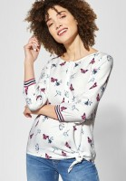 Street One - Allover Print Bluse Vivian in Off White